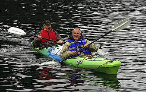 Erwin and Larry in Kayak in Alaska, © Roger Devore